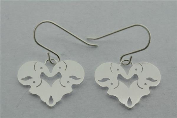 elephant heart earring