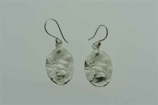 elephant skin earring - oval