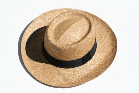 Panama Hat - Boater - Tobacco