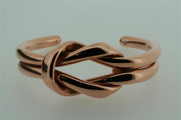 eternity knot copper cuff