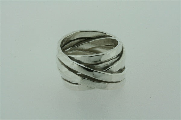 flat battered knot ring