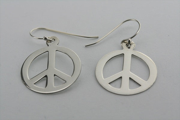 flat disc peace earring