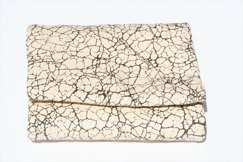 fold wallet - ivory crackle