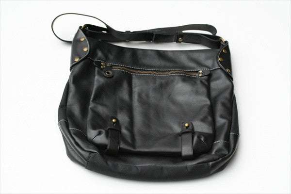 front pouch bag - black
