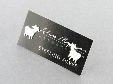 Goat stud - sterling silver