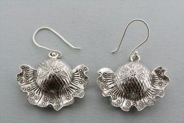 half sunflower earring