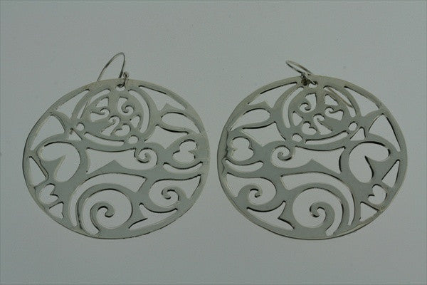 intricate cutout circle earring