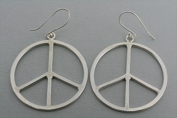 large peace earring