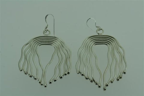 large wavey strand earring