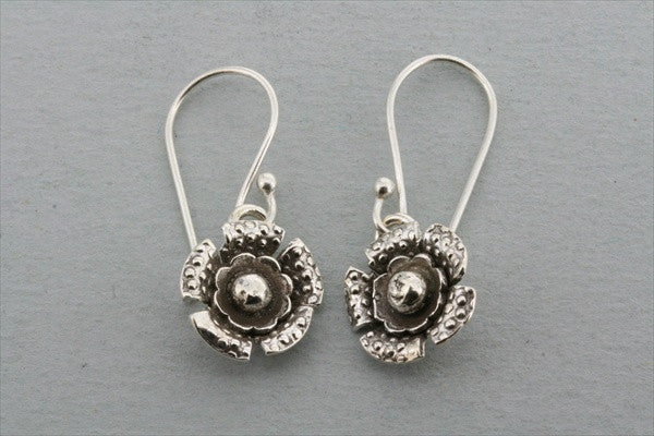 layered flower earring