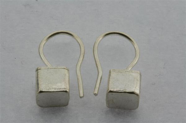 little cube hook earring