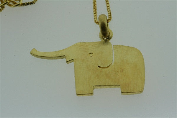 little elephant necklace - gold plated