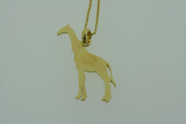 little giraffe necklace - gold plated