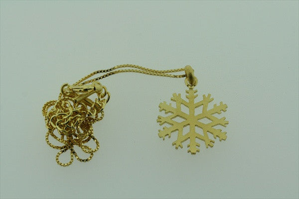 little snowflake necklace - gold plated