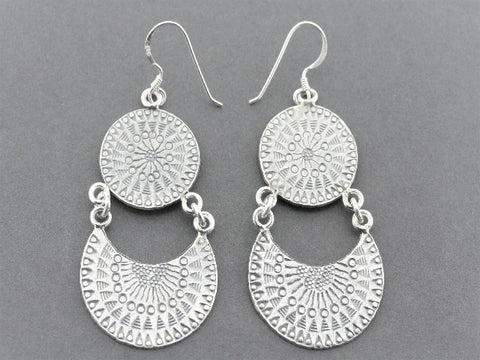 lunar chandelier drop earring - pure silver