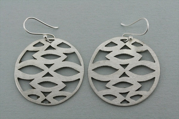 matte circle cutout earring