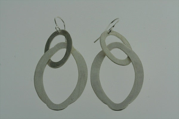 matte link 2 drop earring