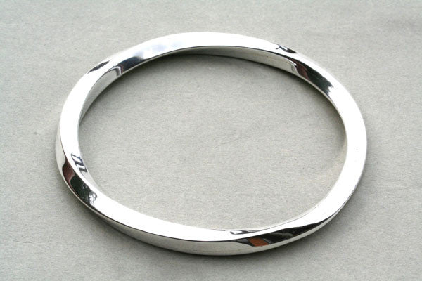 twisted squared edge bangle