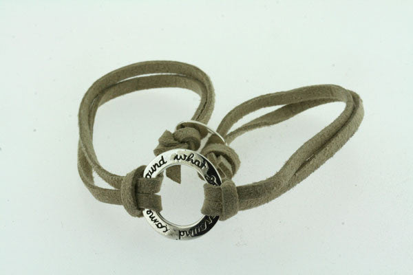 what goes around suede bracelet - sand