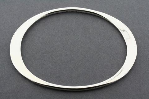 flattened oval bangle - small