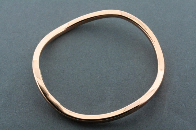 crinkle copper bangle - narrow