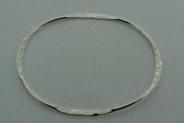 narrow flattened battered bangle