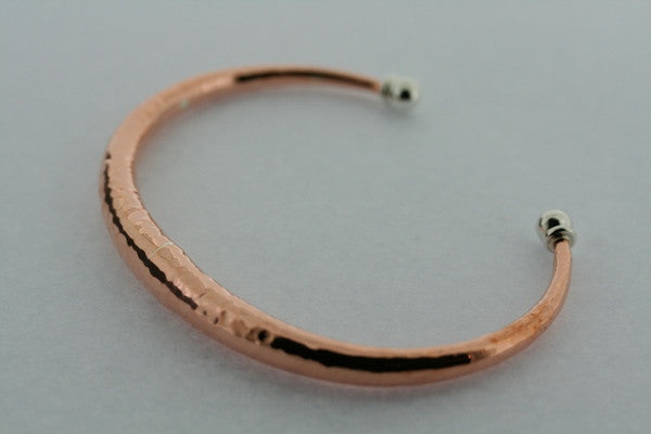 tapering tubular battered cuff - copper
