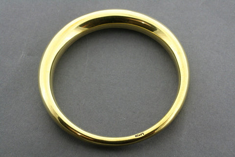 tapering tubular bangle - brass
