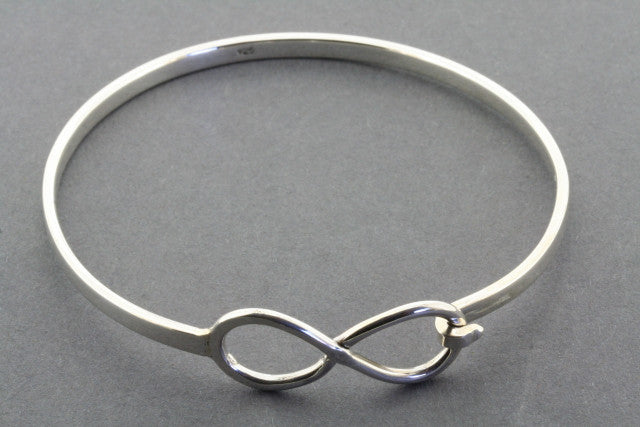 infinity closer bangle - sterling silver