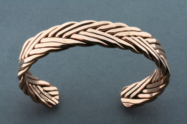copper plaited flat cuff