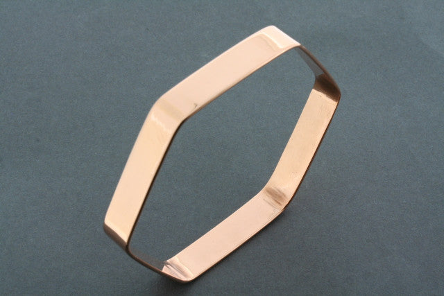 hexagon bangle - copper