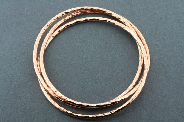 battered russian bangle - copper