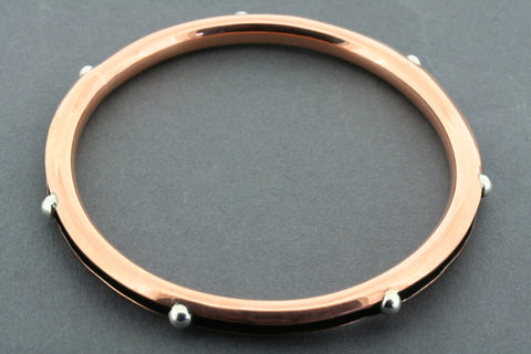 copper & silver ball bangle