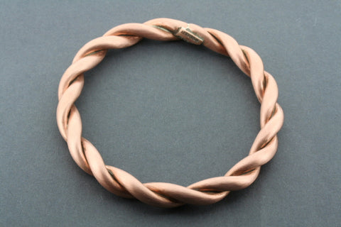 twisted copper bangle - matte