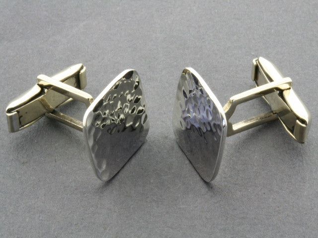 Sterling Silver Textured Square Cufflinks