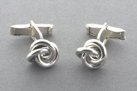 Polished Sterling Silver Knot Cufflinks