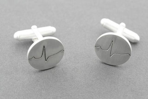 healthy heart beat cufflink