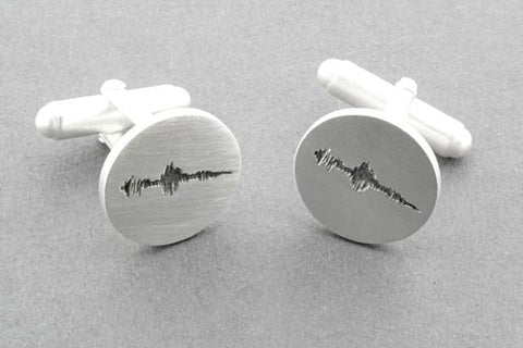 """I love you"" voicenote cufflink"