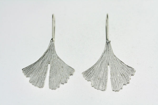 gingko leaf earring