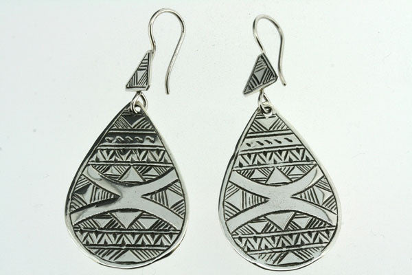 touareg earring - wide teardrop