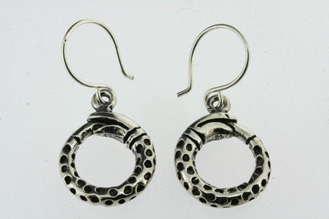 circle snake hoop earring