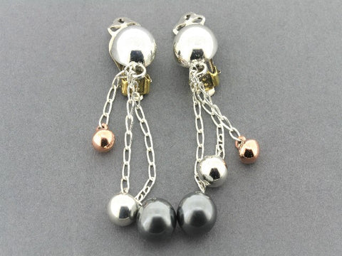 chained balloon earrings - clip-on's