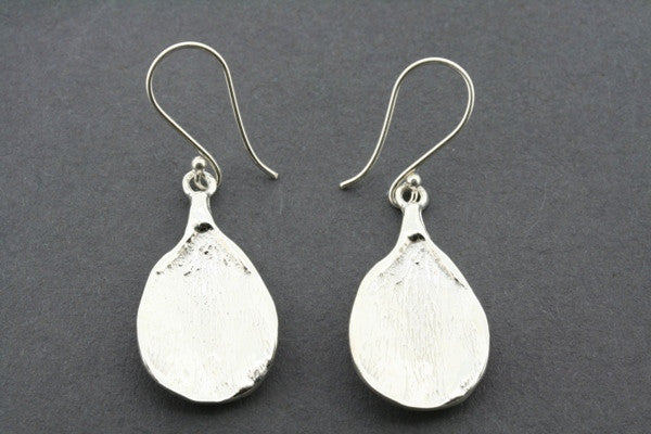 concave texture teardrop earring