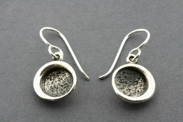 small oxidized cup earring