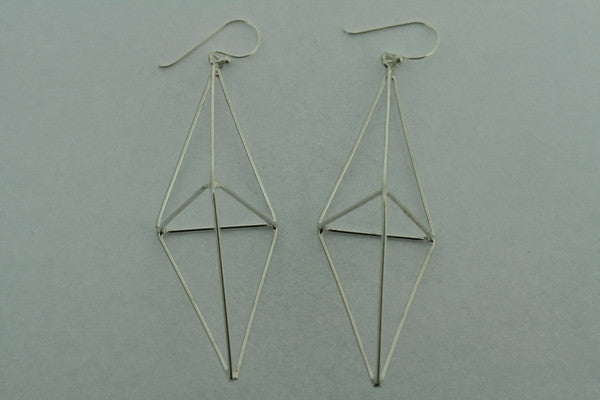 double pyramid earring