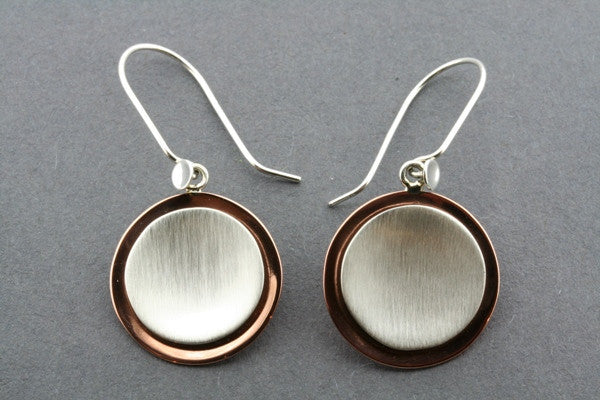 copper/silver cup earring