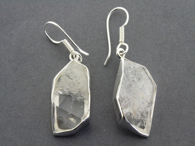 Druzy drop earring - herkimer
