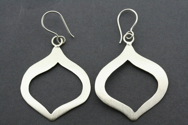 brushed flat teardrop earring