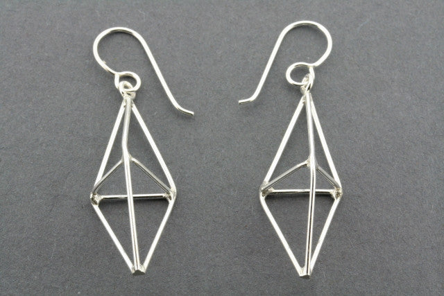 double pyramid  earring - small