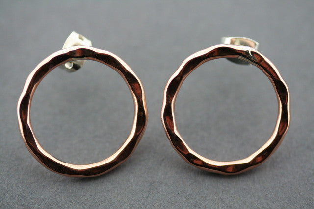 small battered circle hoop - copper